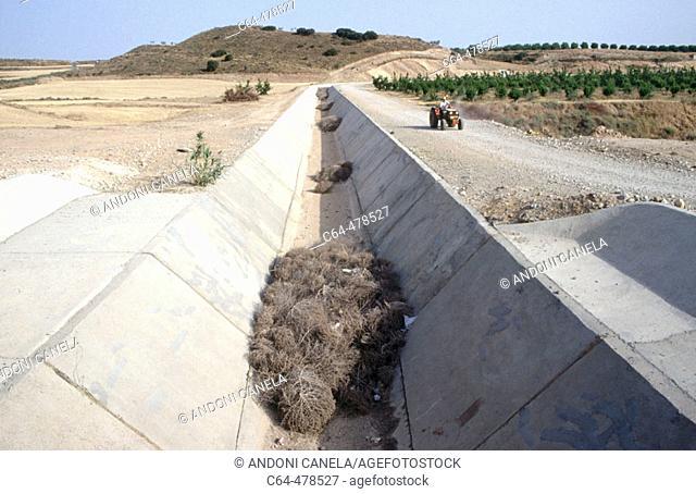 Urgell canal. Catalunya. Spain