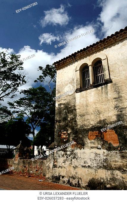 the town of La Asuncion on the Isla Margarita in the caribbean sea of Venezuela