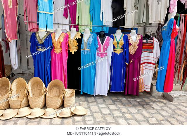 Tunisia - Jerba - Hount-Souk - Shop at the entry of the souks