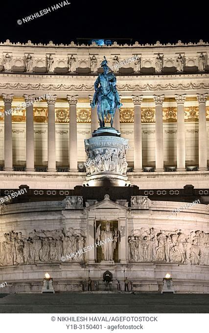 Equestrain Statue of Victor Emmanuel, Altare della Patria, Rome, Italy