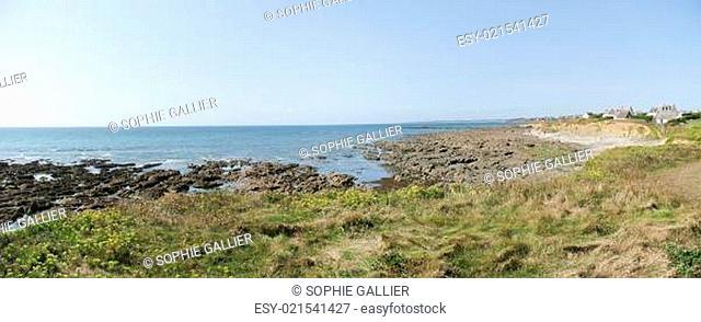 Sea coast in Brittany