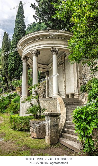 Pavilion at the Botanic Garden of Villa Monastero, Varenna, Lombardy, Italy