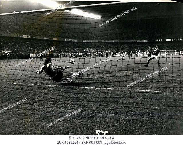 May 17, 1982 - Paris-S.G. Beats Saint-Etienne and Wins the French Cup (Credit Image: © Keystone Press Agency/Keystone USA via ZUMAPRESS.com)