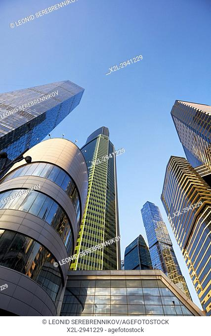 "Highrise buildings of the Moscow International Business Centre (MIBC), also known as ""Moscow City"""". Moscow, Russia"