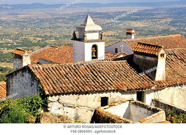 Bell tower in an old building of Marvão in the Alentejo, Portugal