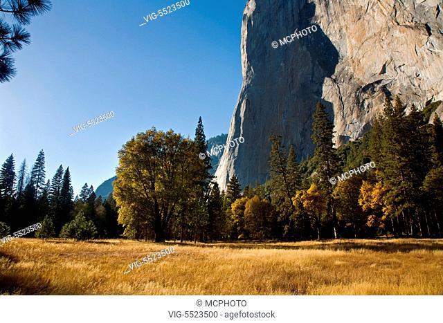 EL CAPITAN and autumn in Yosemite Valley - YOSEMITE NATIONAL PARK, CALIFORNIA - Yosemite,USA, 01/01/2016