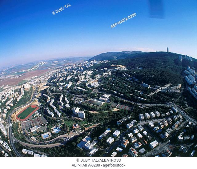 Aerial photograph of the city of Haifa