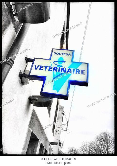 Vet sign, France, Europe