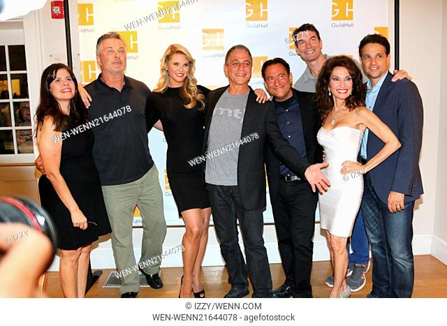'Celebrity Autobiography' at Guild Hall in East Hampton - Arrivals Featuring: Dayle Reyfel,Alec Baldwin,Christie Brinkley,Tony Danza,Eugene Pack,Susan Lucci