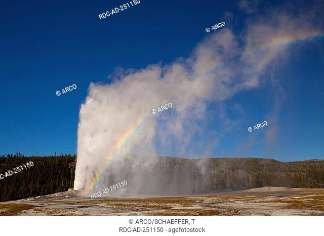 Old Faithful Geyser Upper Geyser Basin Yellowstone national park Wyoming USA