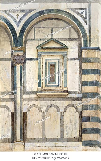 The Baptistery, Florence: Study of the upper Part of the right-hand Compartment on the south-west Fa Artist: John Ruskin