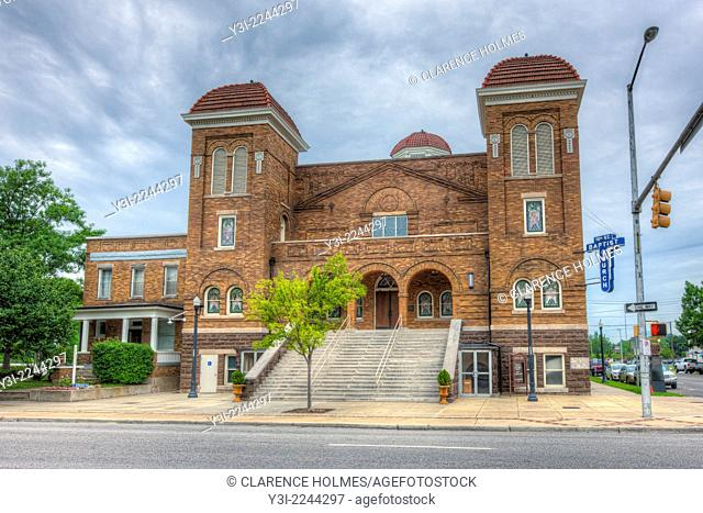The historic 16th Street Baptist Church, was the site of the racially motivated bombings that killed four little girls in 1963