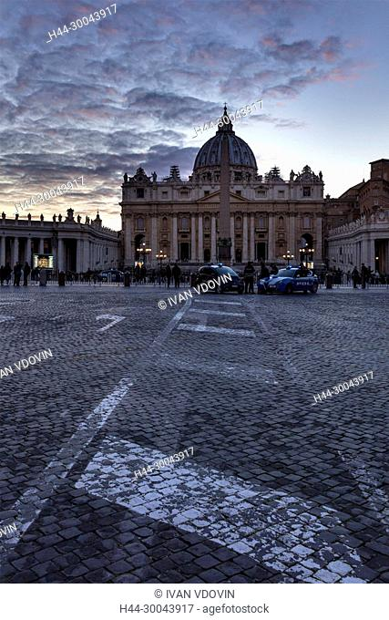 Papal Basilica of St. Peter in the Vatican, St. Peter's Square, Rome, Lazio, Italy