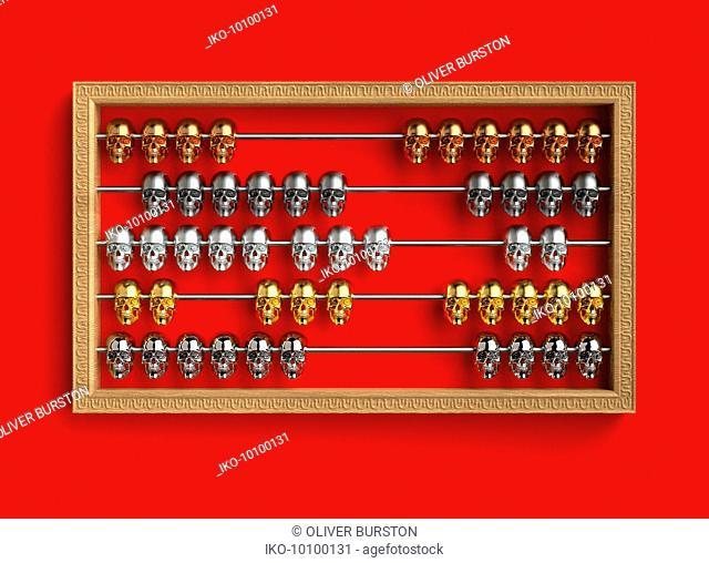 Skulls on abacus