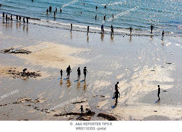 France, Brittany, Saint Malo, low tide