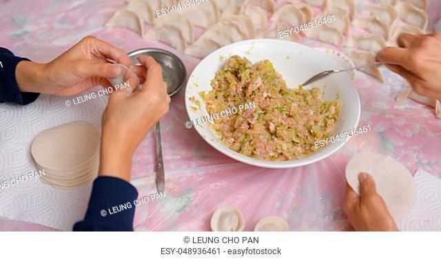 Homemade meat dumpling