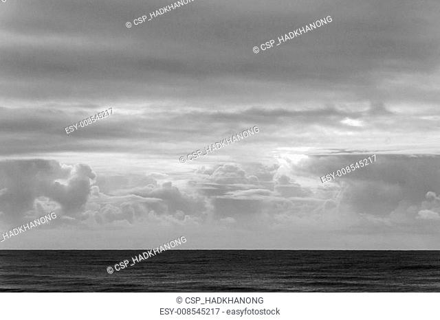 Black and white sky and sea