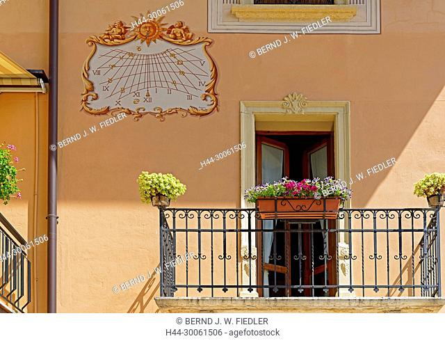 Europe, Italy, Veneto Veneto, Negrar, via Giuseppe Mazzini, town villa, flowers, buildings, plants, architecture, place of interest, tourism, watches, doors
