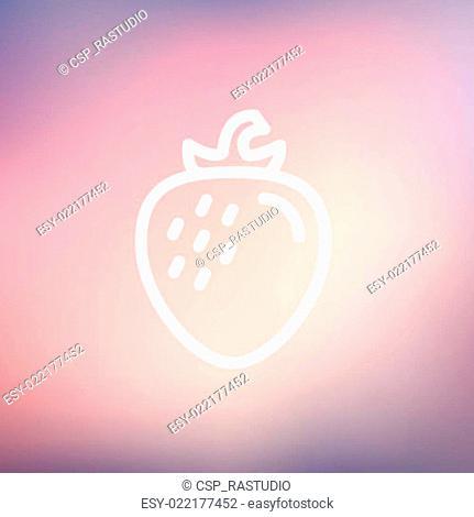 Strawberry thin line icon