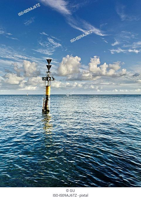 Channel marker at sea, Fremantle, Western Australia