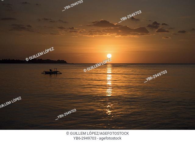 Sunset in Gili Air, Gili Islands, Indonesia