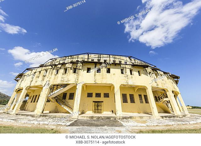Exterior view of the Presidio Modelo, Model Prison, built in the late 1920's on Isla de la Juventud, Cuba