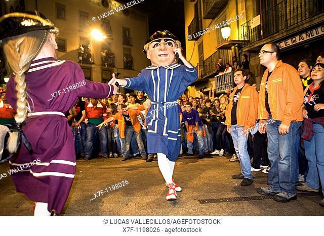`Nans vells' old dwarf-enanos viejos dancing Plaça de Sant Pere La Patum Masterpiece of Oral and Intangible Heritage by UNESCO Berga  Barcelona  Catalonia...
