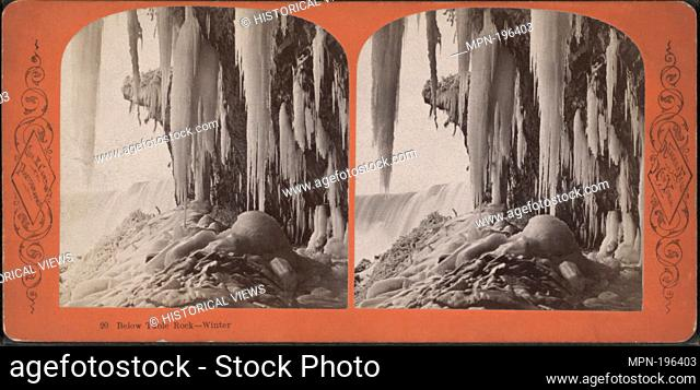 Below Table Rock, winter. Curtis, George E. (d. 1910) (Photographer). Robert N. Dennis collection of stereoscopic views United States States New York Niagara...