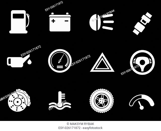 Car interface simply symbol for web icons and user interface