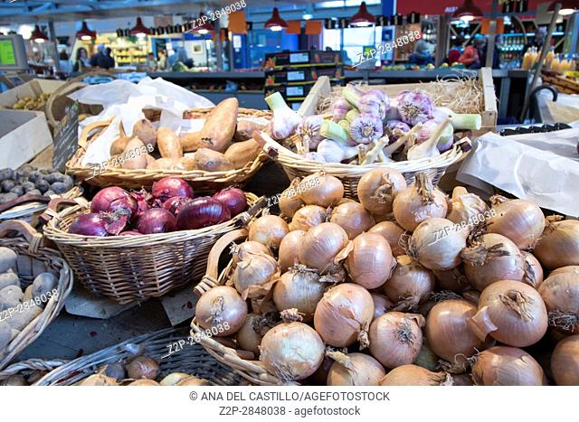 Inside views of the Market Hall in the old town part of Colmar on May 14, 2016. Colmar is a city in region Alsace in France