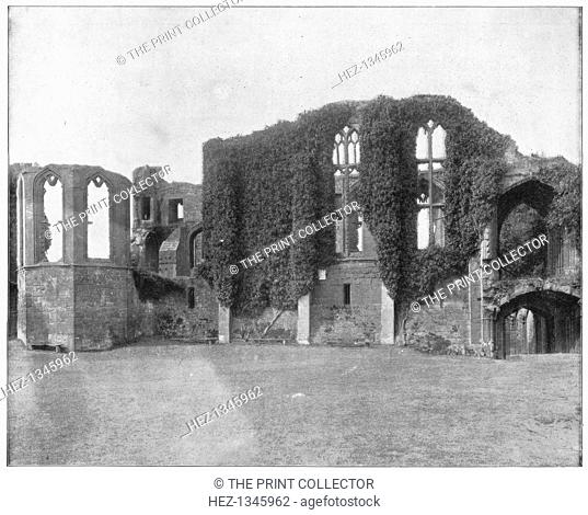 Kenilworth Castle, England, late 19th century. Illustration from Portfolio of Photographs, of Famous Scenes, Cities and Paintings