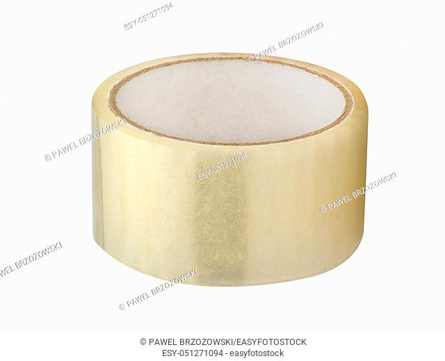 Roll of scotch tape isolated on white background