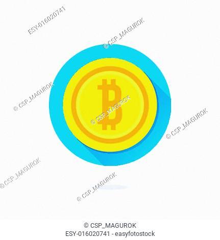 Vector Gold Bitcoin Icon