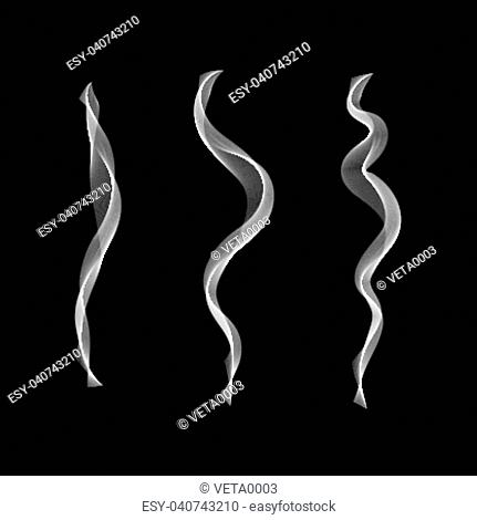 smoke isolated to any background . Cigarettes Vector smoke set.