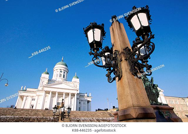 Lutheran cathedral at Senate square. Helsinki. Finalnd