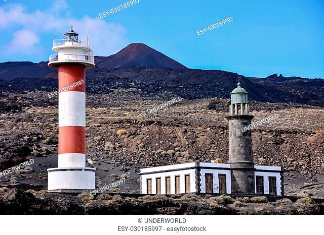 Photo Picture of the Classic Lighthouse in Fuencaliente La Palma Canary Islands