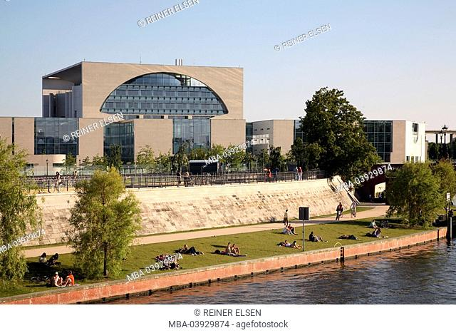 Germany, Berlin, Spree, chancellory