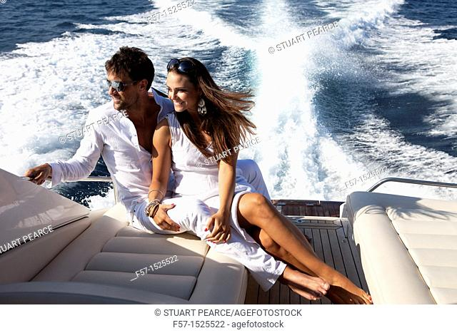 Couple in yacht