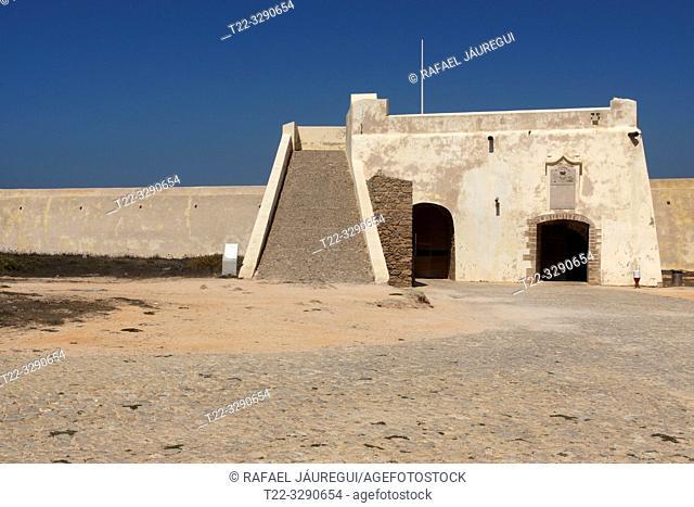 Algarve (Portugal). Interior of the Fortress of Sagres in the Algarve
