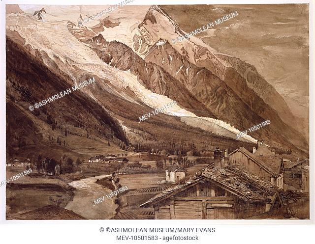Glacier des Bossons, Chamonix, France. Ruskin, John