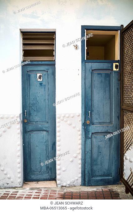 Toilet doors for women and men