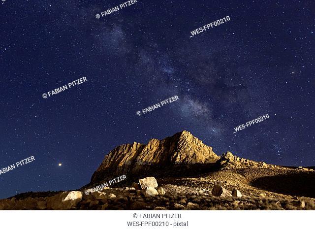 Iran, Fars Province, Neyriz, near Bakhtegan Lake, Milkyway