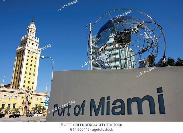 Florida, Miami, Biscayne Boulevard, Freedom Tower, architecture, Spanish Renaissance Revival, Schultze & Weaver, built 1925, ornate, historic