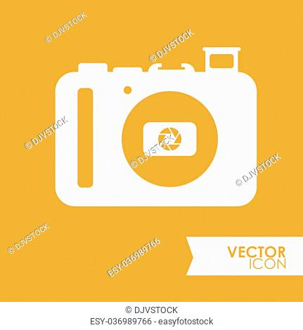 Camera concept with icon design, vector illustration 10 eps graphic