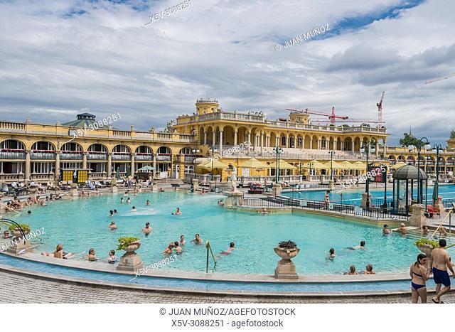 Széchenyi baths. Budapest Hungary