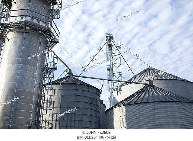 Silos at farm