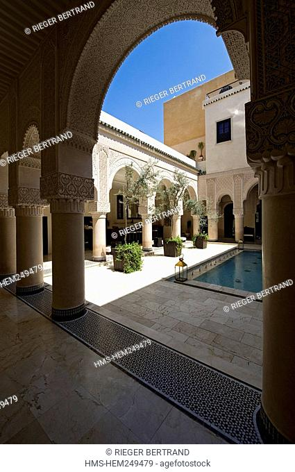 Morocco, Middle Atlas, Fez, Imperial City, Fez El Bali, medina listed as World Heritage by UNESCO, Riad Fes luxury hotel