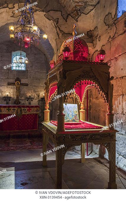 Crypt, Abbey of Santa Maria di Grottaferrata, Lazio, Italy