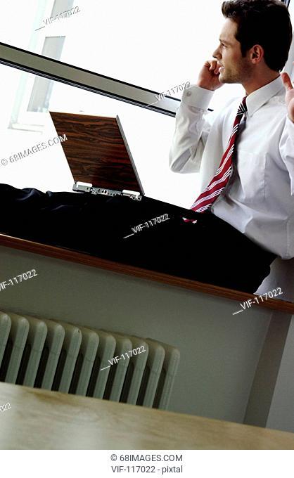 Junger Mann im B³ro - Business - Businessmann - Hamburg, Hamburg, GERMANY, 01/01/2005