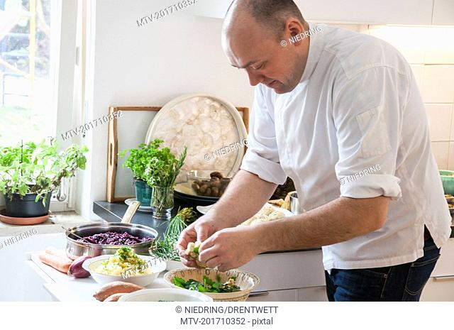Chef preparing food in the kitchen